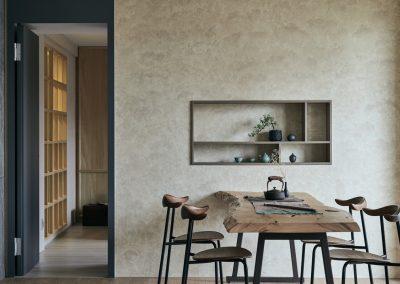 cozy and minimalist dining